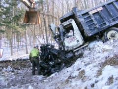 Dumptruck Crash in Fallbrook, PA